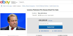 Kemplang Pajak, PM Pakistan Nawaz Sharif 'Dijual' Rp 1,1 Miliar di eBay