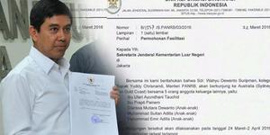 Kolega Menteri Yuddy Minta Fasilitas Selama Pelesiran ke Australia
