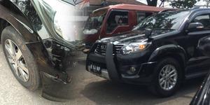 Mobil Ringsek Diserempet Iringan TNI, Nova Malah Dibentak