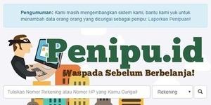 penipu.id, Tempat Cek Identitas Penipu Belanja Online
