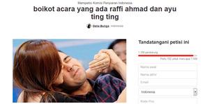 Terlalu Mesra, Netter Bikin Petisi Boikot Raffi Ahmad & Ayu Ting Ting
