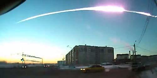 Meteor meledak di Rusia @slate.com