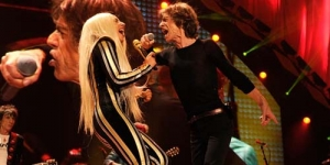 Aksi Kolaborasi Rolling Stones dan Lady GaGa 'Gimme Shelter'