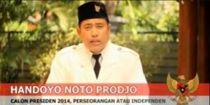 Handoyo Noto Prodjo Deklarasikan Dirinya sebagai Calon Presiden di YouTube