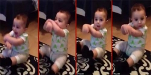 Lucunya Bayi 7 Bulan Ber-Gangnam Style