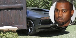 Mobil Lamborghini Rp 7,2 Miliar Kanye West Tabrak Pagar Kim Kardashian